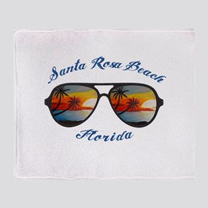 Florida - Santa Rosa Beach Throw Blanket
