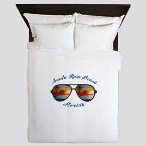 Florida - Santa Rosa Beach Queen Duvet