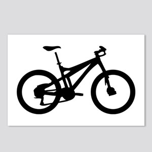 black mountain bike bicycle Postcards (Package of