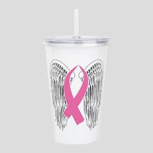 Winged Awareness Ribbon (Pink) Acrylic Double-wall