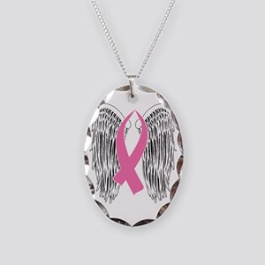 Winged Awareness Ribbon (Pink) Necklace