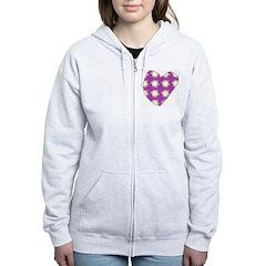 Purple Love Explosion Zip Hoodie