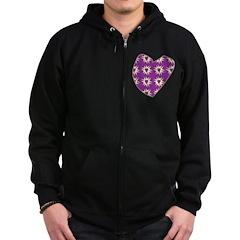 Purple Love Explosion Zip Hoodie (dark)