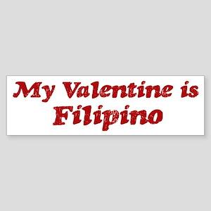 Filipino Valentine Bumper Sticker