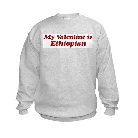 Ethiopian Valentine Kids Sweatshirt