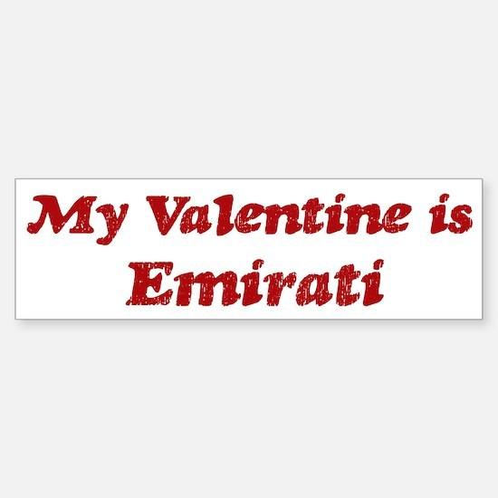 Emirati Valentine Bumper Bumper Bumper Sticker