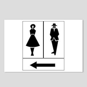 Public Toilet Women/Men, Sweden Postcards (Package