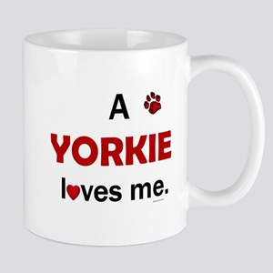 A Yorkie Loves Me Mug