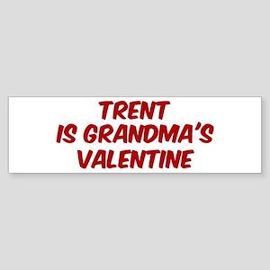 Trents is grandmas valentine Bumper Sticker