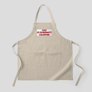 Toris is grandmas valentine BBQ Apron