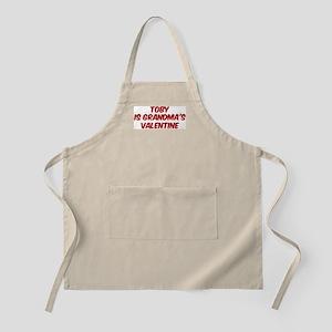 Tobys is grandmas valentine BBQ Apron