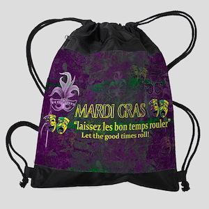 Mardi Gras Good Times Roll Drawstring Bag