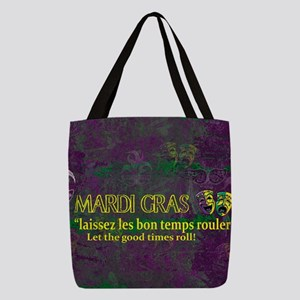 Mardi Gras Good Times Roll Polyester Tote Bag