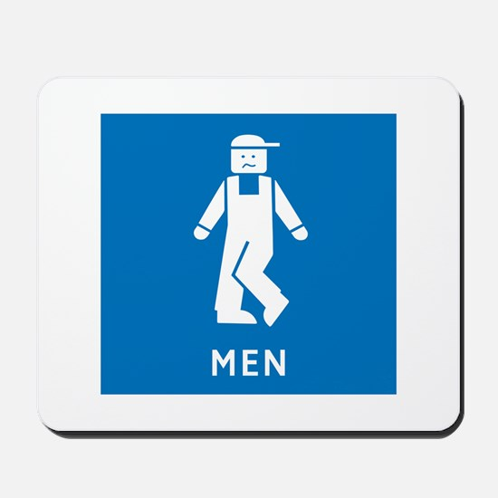 Public Toilet Men, California, USA Mousepad