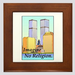 no religion Framed Tile