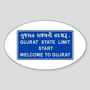 Welcome To Gujarat, India Oval Sticker