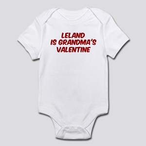 Lelands is grandmas valentine Infant Bodysuit