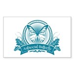 Antisocial Butterfly (blue) Sticker