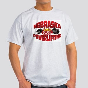 NEBRASKA Powerlifting! Ash Grey T-Shirt