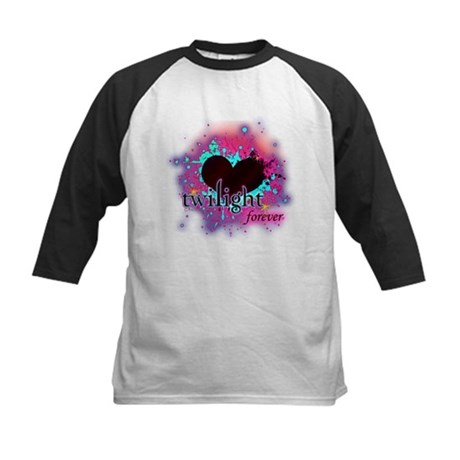 twilight forever dark heart Kids Baseball Jersey