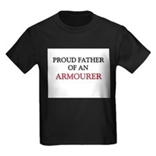 Proud Father Of An ARMOURER Kids Dark T-Shirt