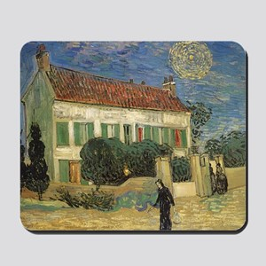 Van Gogh White House at Night Mousepad