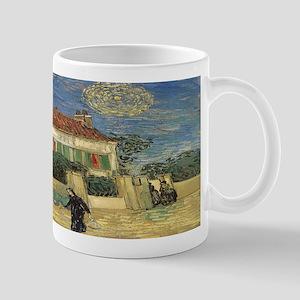 Van Gogh White House at Night Mug