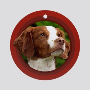 American Brittany Red Round Ornament