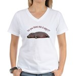 Hippo Women's V-Neck T-Shirt