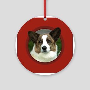Cardigan Corgi Red Round Ornament