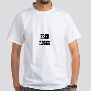 FRED ROCKS White T-Shirt