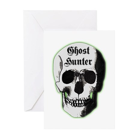 Ghost Hunter Skull Greeting Card