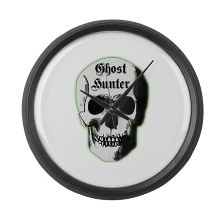 Ghost Hunter Skull Large Wall Clock