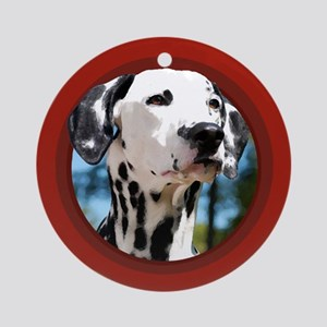 Dalmatian Red Round Ornament
