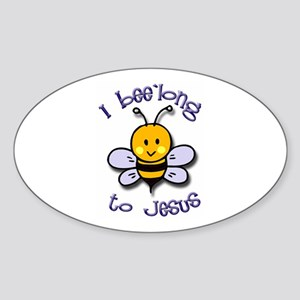 I Bee'long to Jesus (1) Oval Sticker