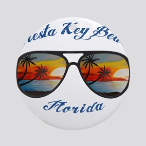 Florida - Siesta Key Beach Round Ornament