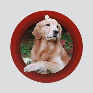 Golden Retriever Red Round Ornament