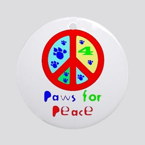 Paws for Peace Red Ornament (Round)