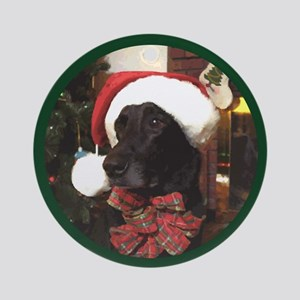 Labrador Santa Claws Round Ornament