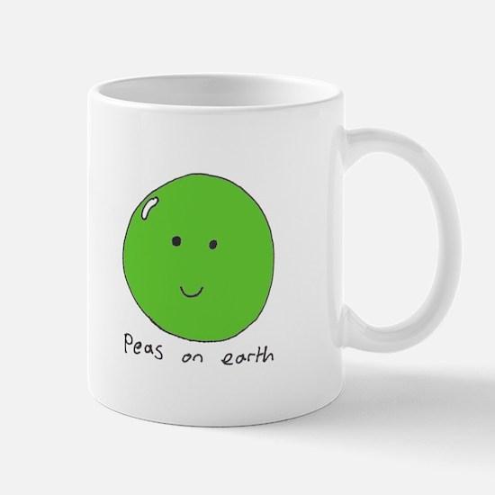 Mug 'peas on earth'