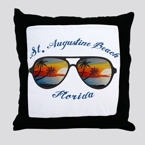 Florida - St. Augustine Beach Throw Pillow