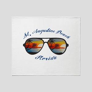 Florida - St. Augustine Beach Throw Blanket