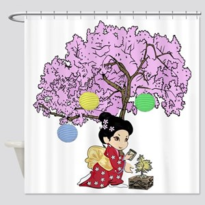 Cute kokeshi style Shower Curtain