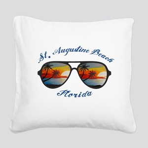 Florida - St. Augustine Beach Square Canvas Pillow
