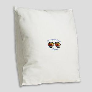 Florida - St. Augustine Beach Burlap Throw Pillow