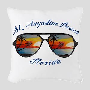 Florida - St. Augustine Beach Woven Throw Pillow