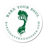 Bare Your Soul Round Car Magnet