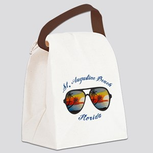 Florida - St. Augustine Beach Canvas Lunch Bag