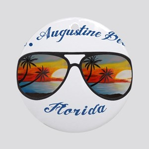 Florida - St. Augustine Beach Round Ornament