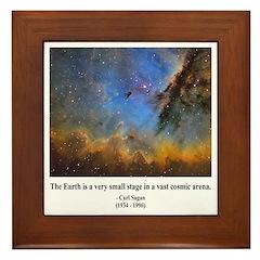 Carl Sagan D Framed Tile